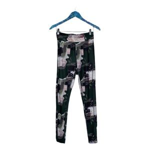 & Other Stories Green Pink High Rise Leggings